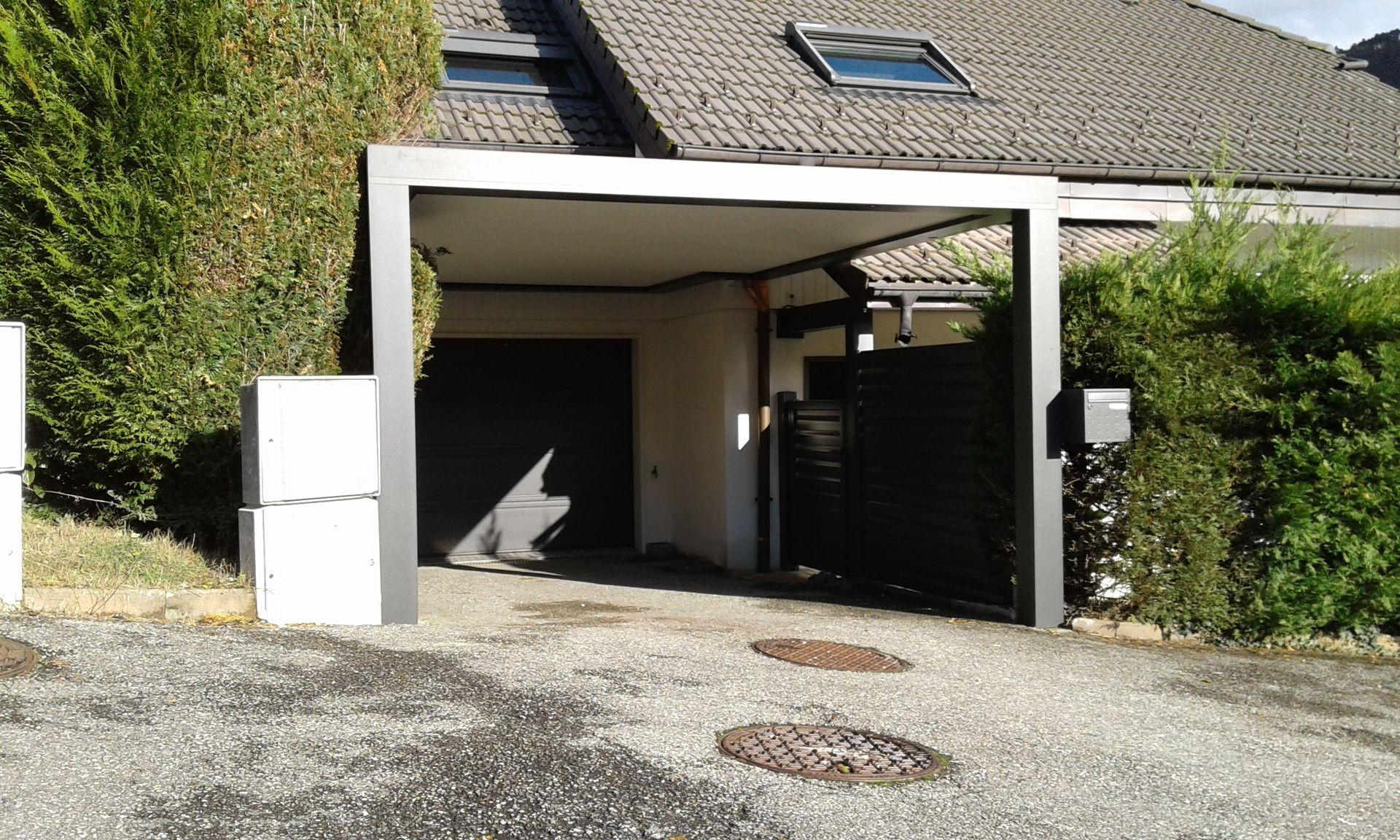 Carport en haute savoie 74 et abri de voiture actuel veranda for Fermer carport en garage