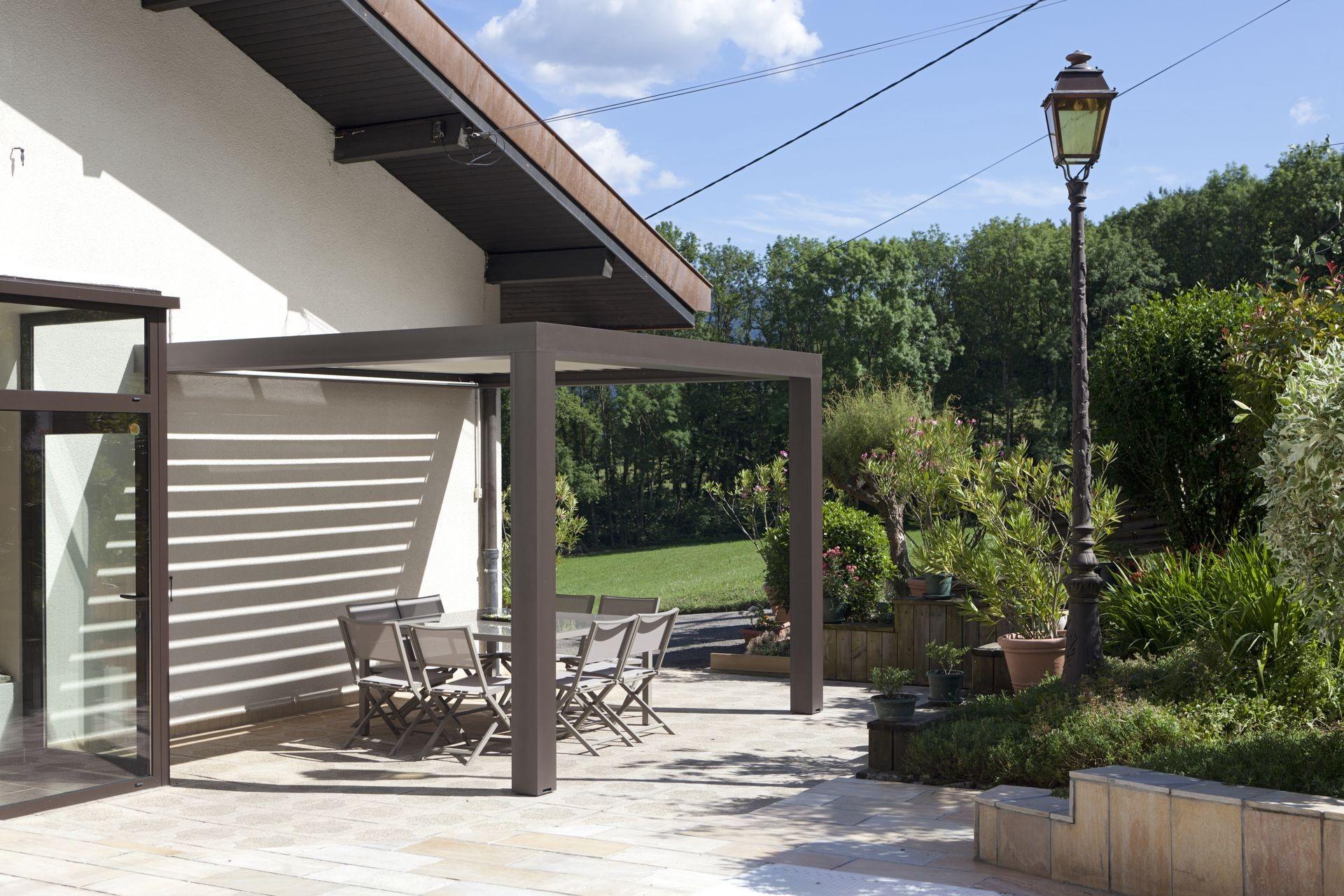 Pergola Aluminium Lames Orientables Sur La Haute Savoie 74