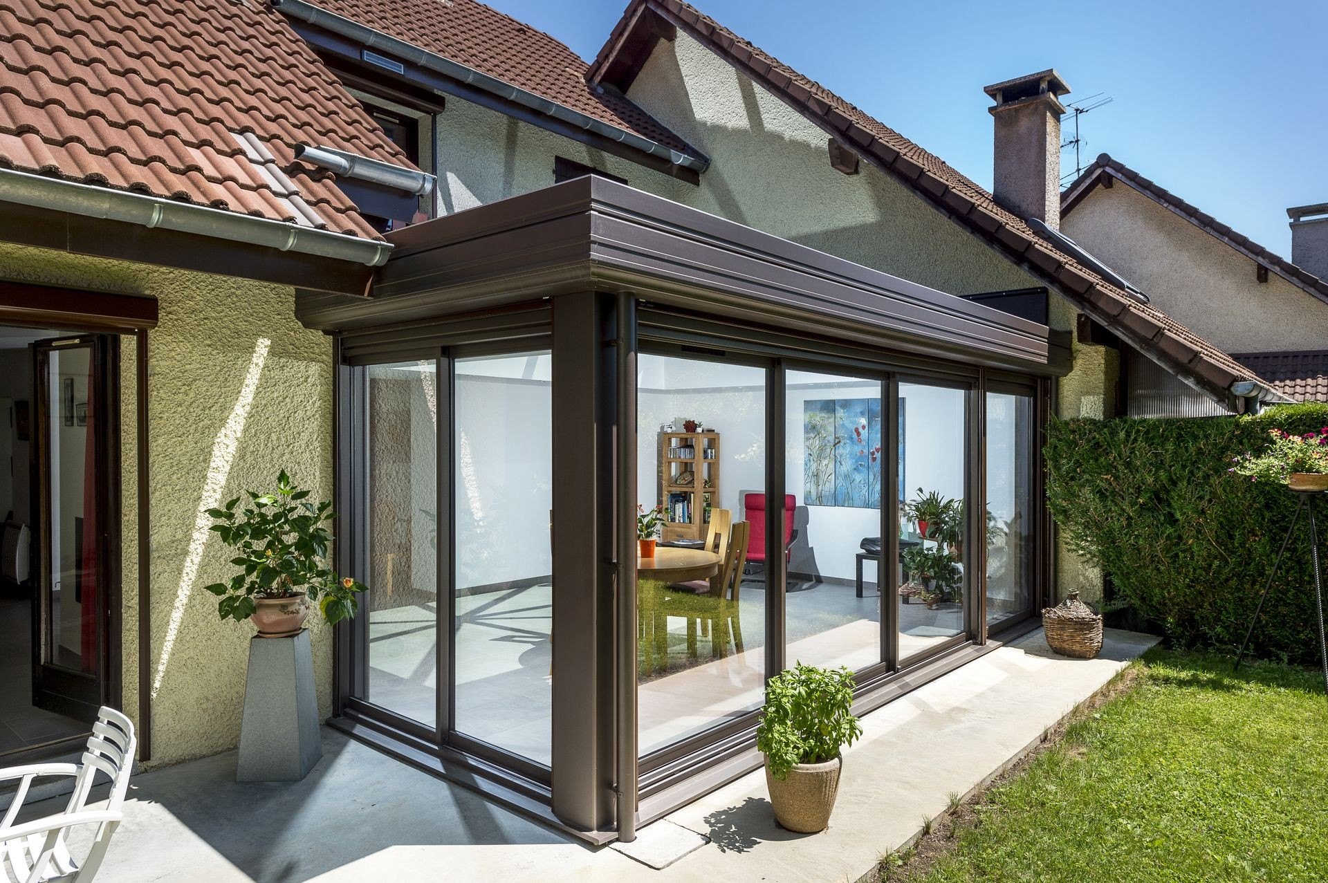extension toiture plate actuel veranda. Black Bedroom Furniture Sets. Home Design Ideas