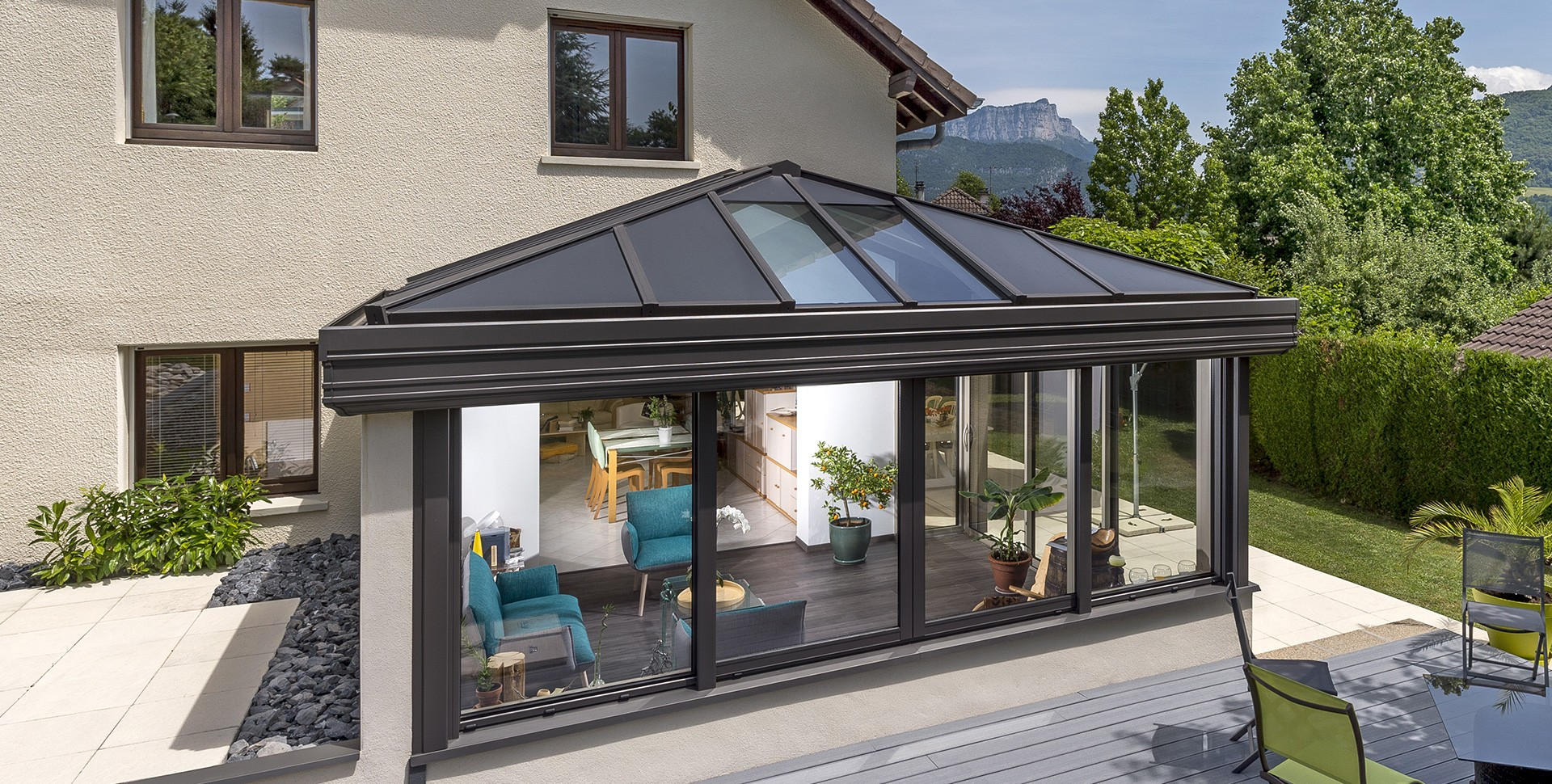 image veranda aluminium good patio aluminium terrace covers roof with image veranda aluminium. Black Bedroom Furniture Sets. Home Design Ideas