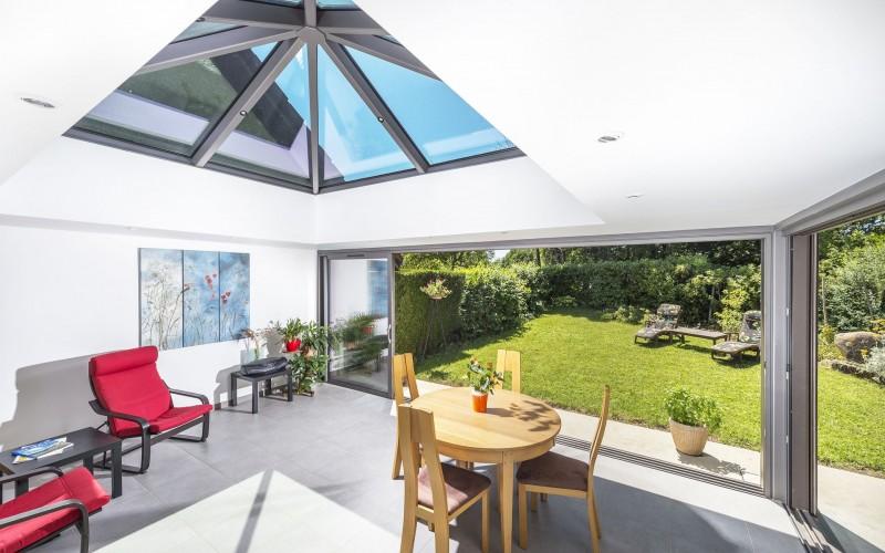 cr ation de verri re et sas d 39 entr e annecy haute savoie actuel veranda. Black Bedroom Furniture Sets. Home Design Ideas